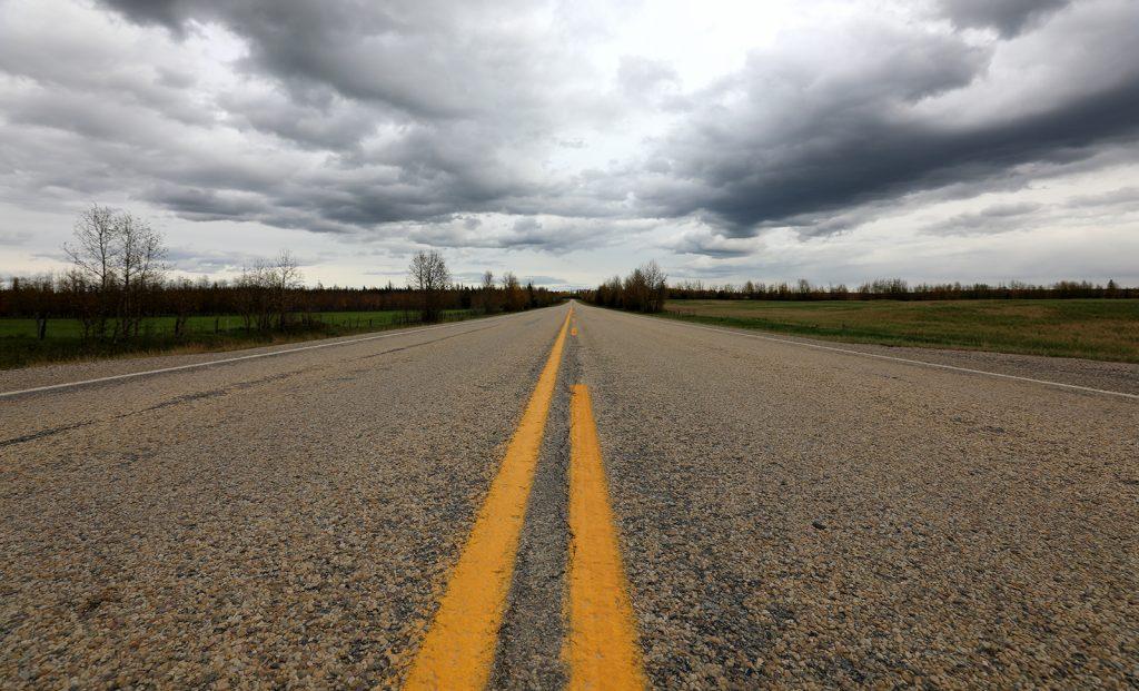 Road in Yellowhead County
